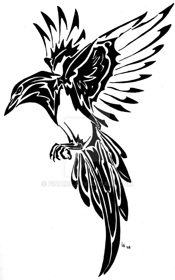 Magpie Tribal Tattoo By Finaira On DeviantArt