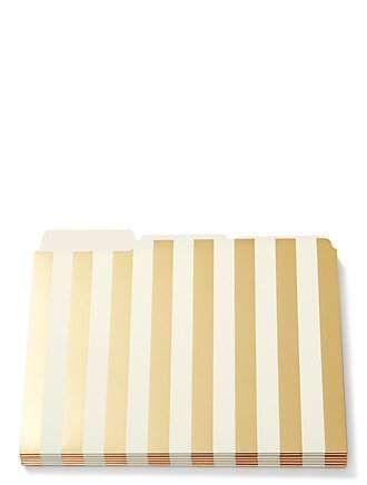 strike gold stripe file folders by kate spade new york