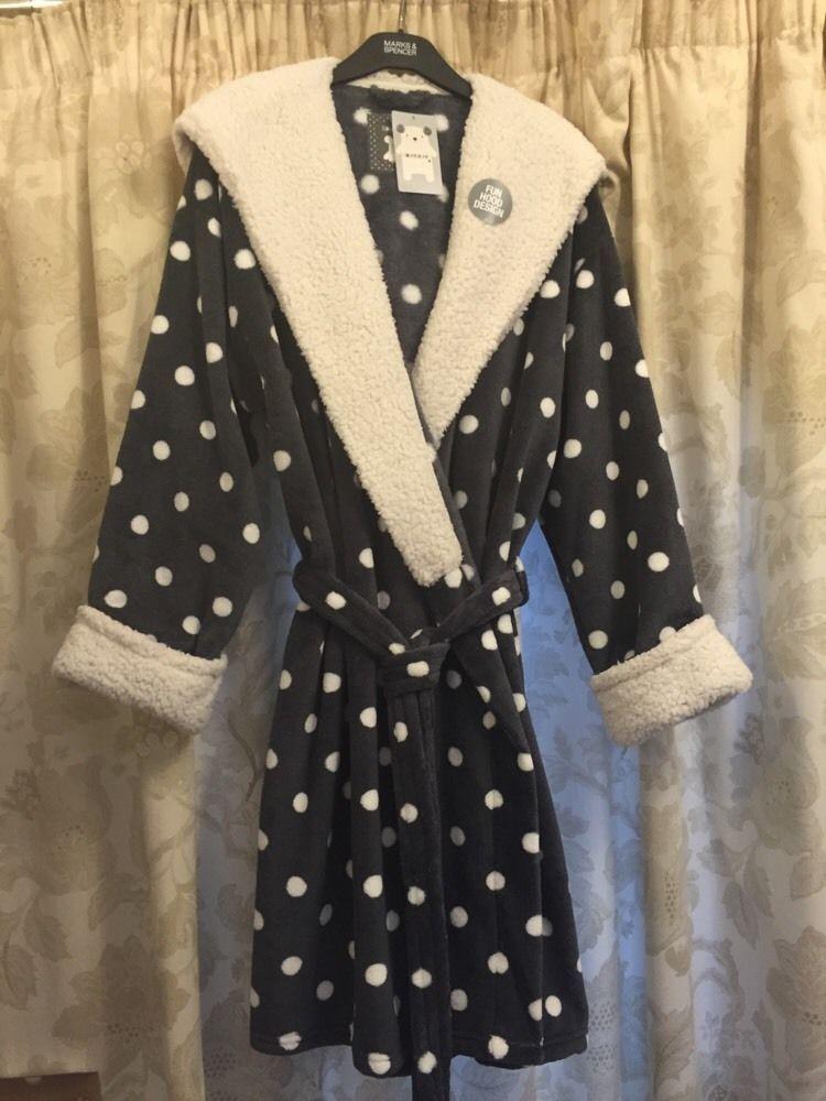 M&S SQUAREBEAR ladies dressing gown/Wrap UK20-22 BNWT RRP£29.50 FUN ...