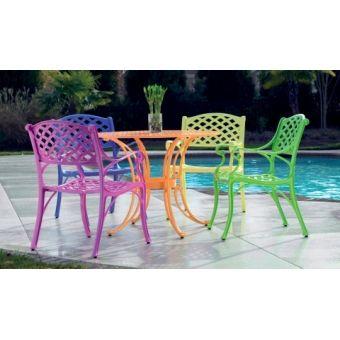 Multicolor Cast Aluminum Outdoor Furniture MADE IN USA!! $660