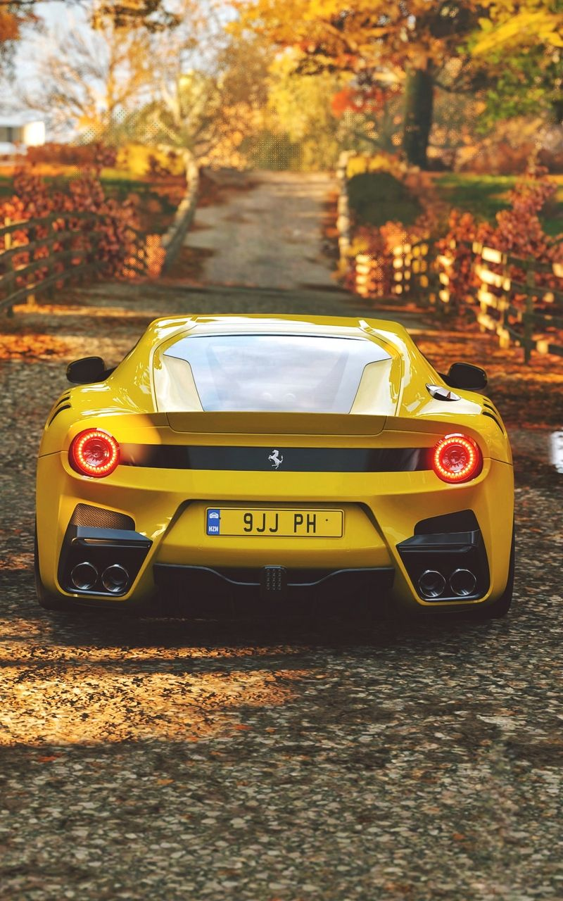 Ferrari Sports Car Yellow Wallpaper Super Cars Car Wallpapers Ferrari