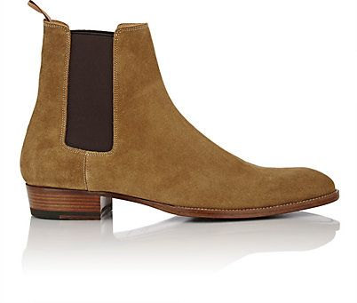 We Adore: The Suede Hedi Chelsea Boots from Saint Laurent at Barneys New  York