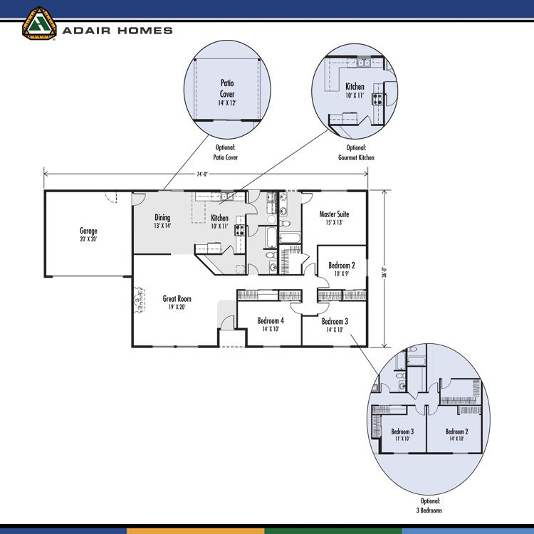 The mckenzie 1920 home plan adair homes adair plans for Adair home plans