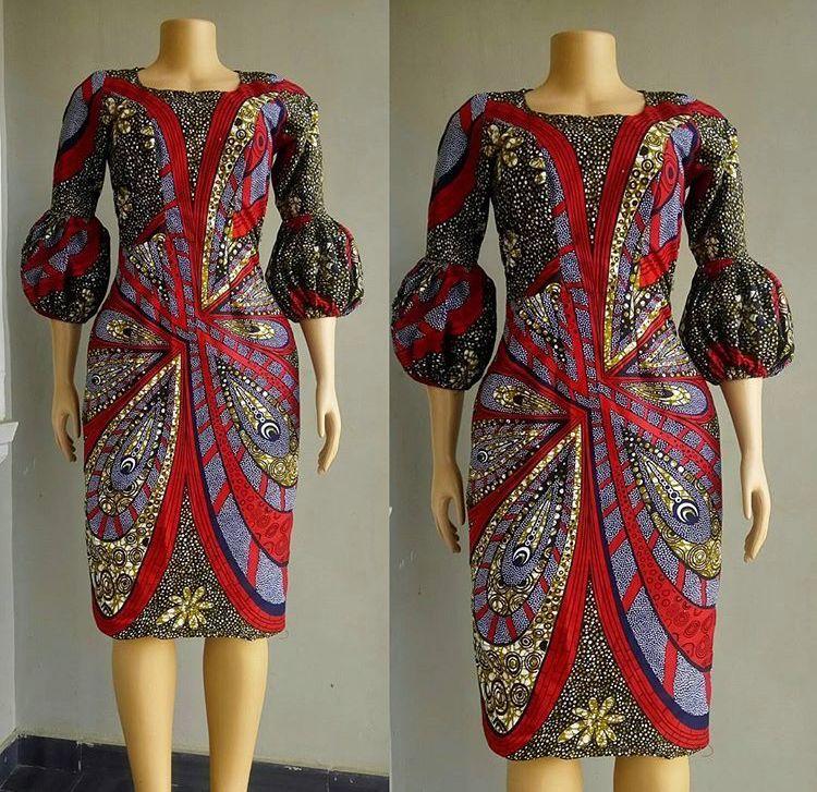 African Chitenge Dress. Kanyget Fashions+