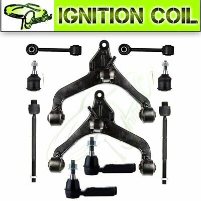 12pc Front Upper Control Arm Ball Joint Tierod Sway link for 02-04 Jeep Liberty