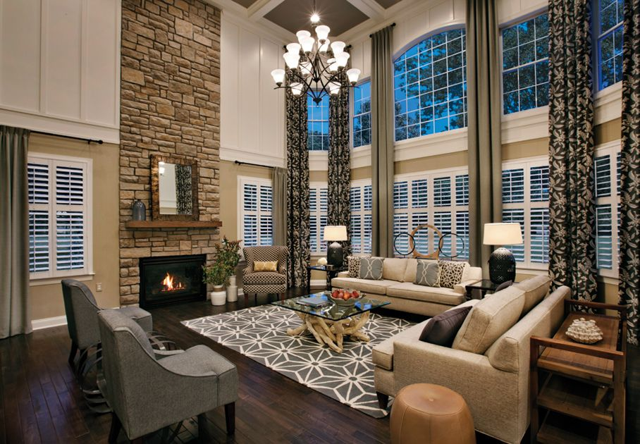Toll brothers elkton south shore two story family room Model home family room pictures