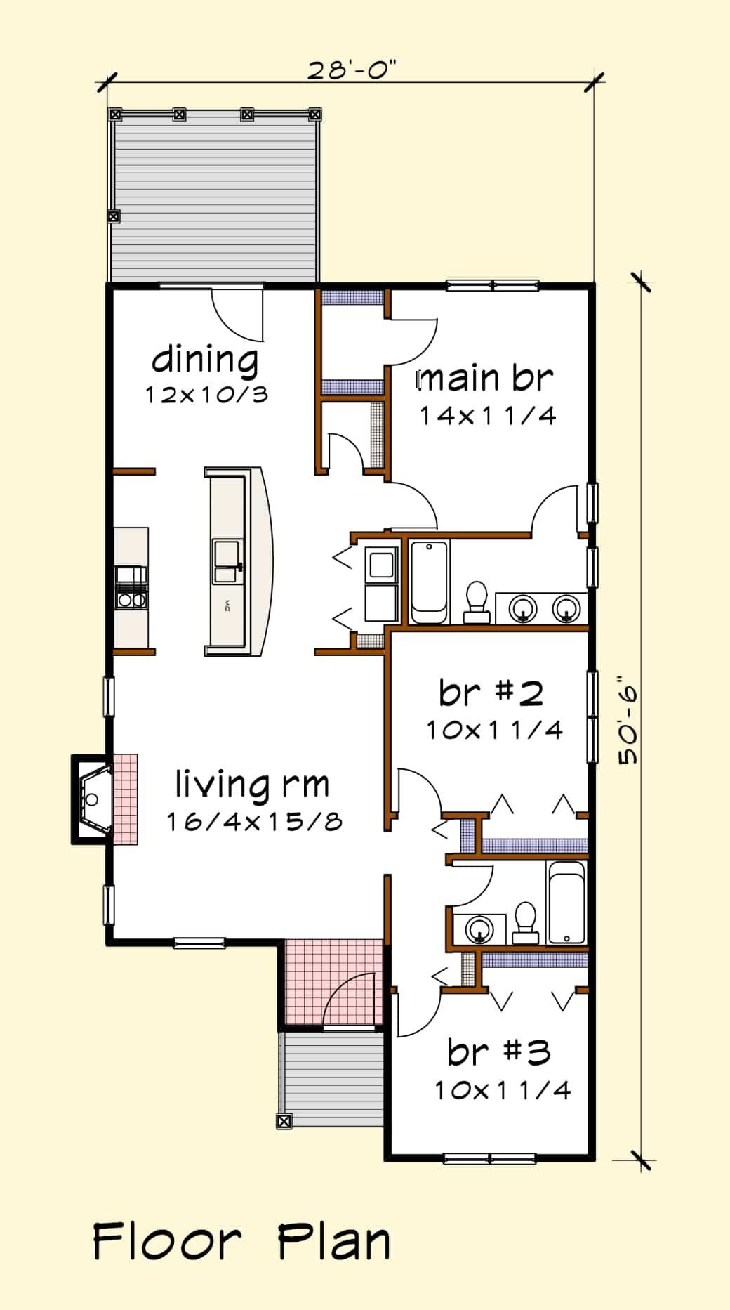 House Plan 1206c Standard Series Thompsonplans Com Floor Plans House Plans How To Plan