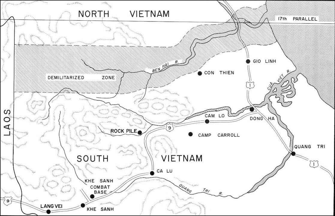 CON THIEN FIRE BASE VIETNAM on the DMZ next to the BEN HAI