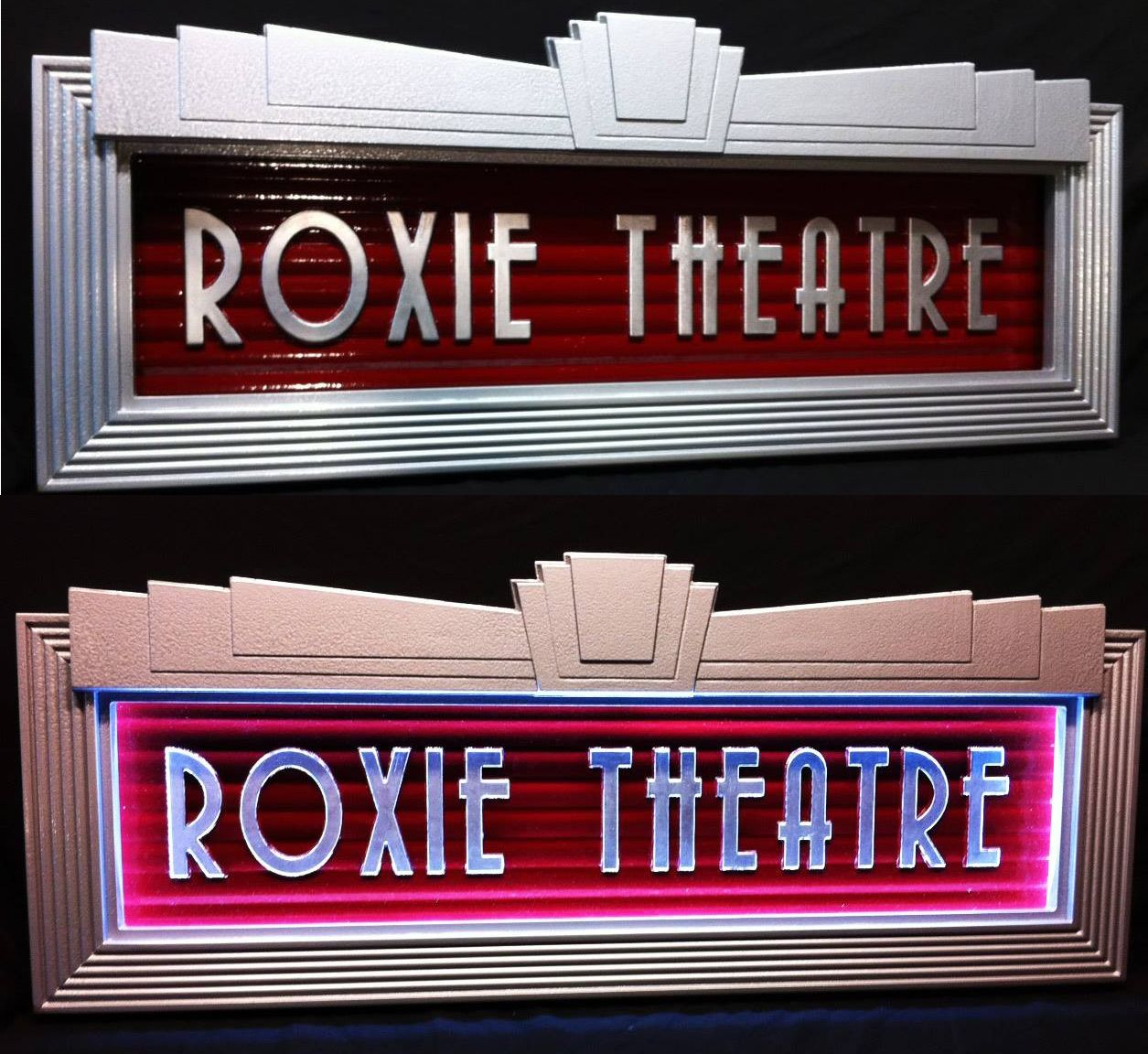Custom built lighted Art Deco Home Theater Marquee ...