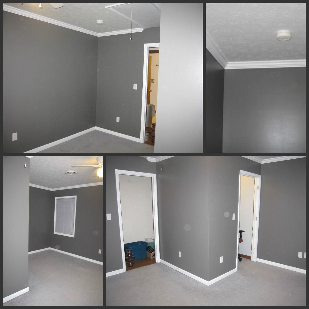 Office Wall Color -- Love This Grey!