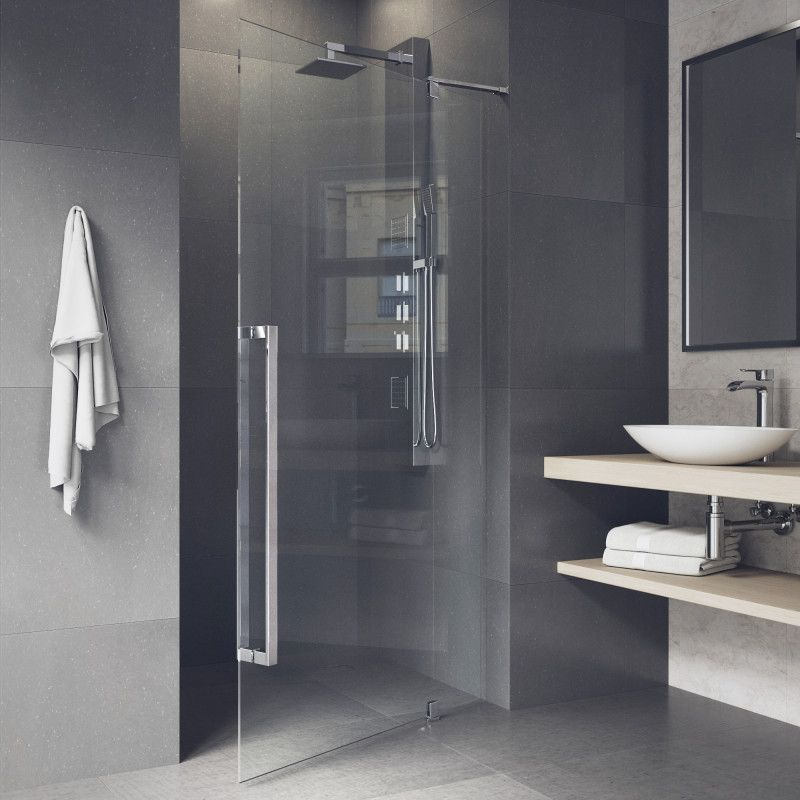 The Vigo Cameo Frameless Pivot Shower Door Brings Luxurious Modern Details To Your Shower Space Bathroom Inspiration And Design Id Shower Doors Frameless Shower Doors Bathroom Interior Design