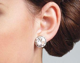 Dance Rhinestone Earrings Studs 1 Pair Fashion Light
