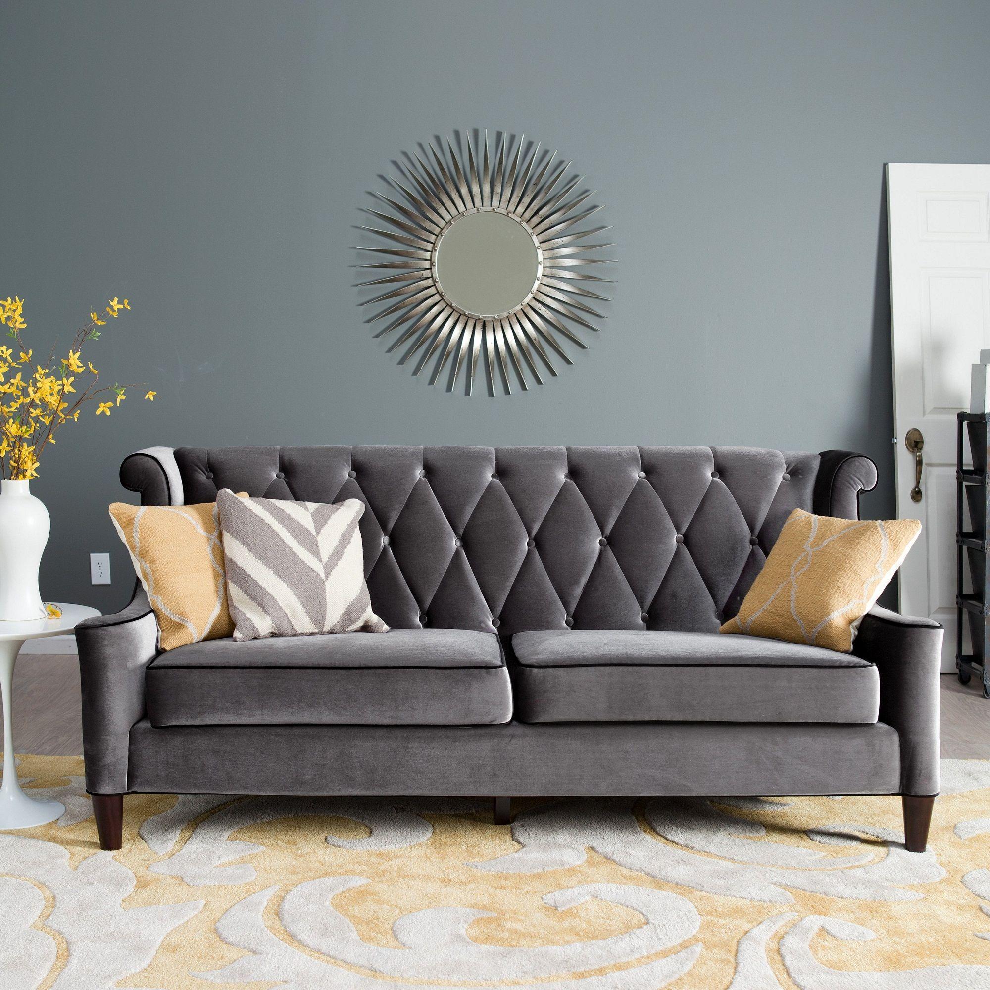 Lovely Grey Velvet Sectional sofa Photographs Grey Velvet ...