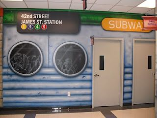 Worlds of Wow - no, this isn't a New York subway, but a fun theme at North Monroe Baptist Church in Monroe, LA! #kidmin #children #kids #ministry #theming