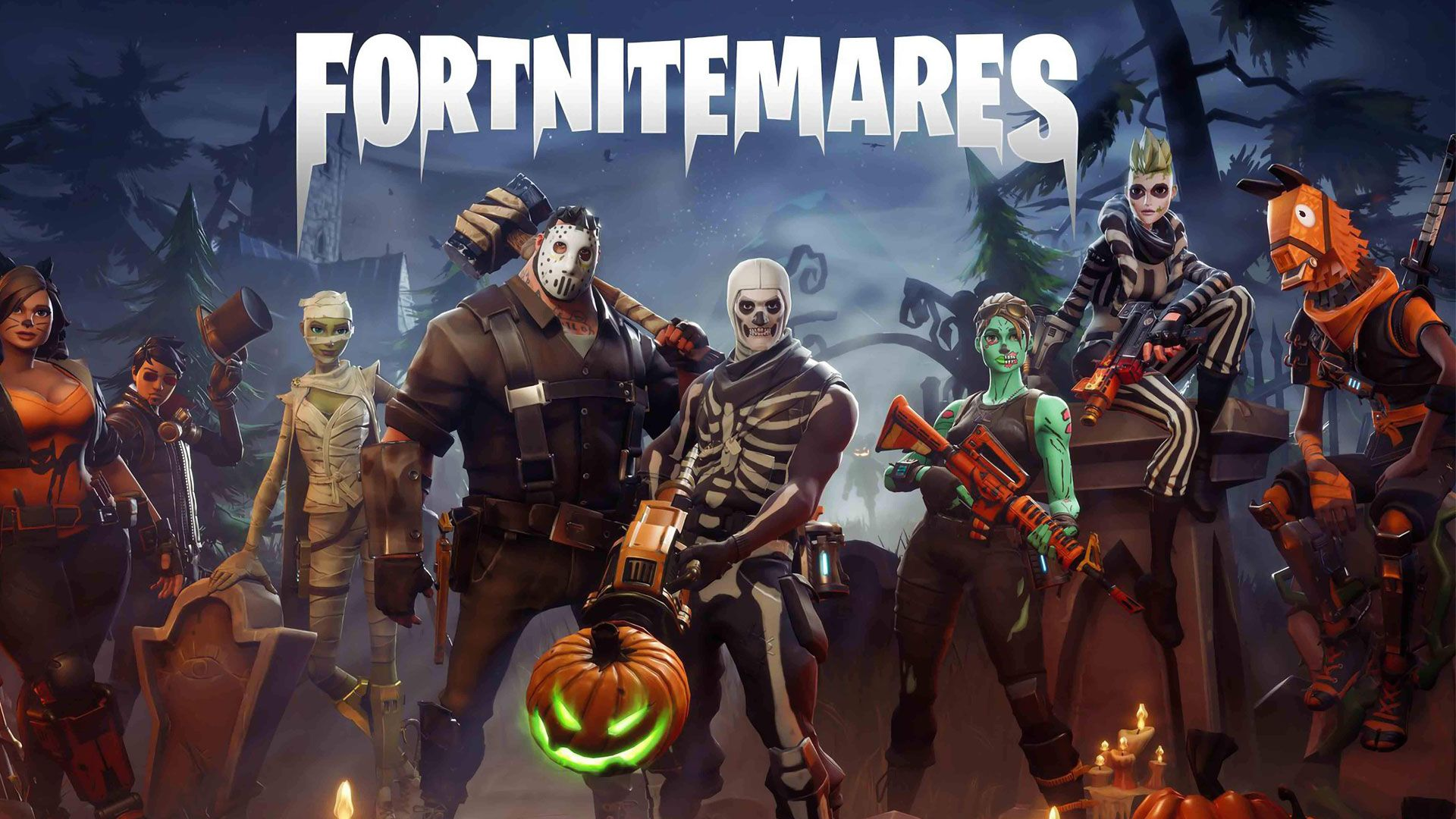 Video Game Fortnite Hd Official Wallpaper Fortnite Gaming Wallpapers Halloween Design