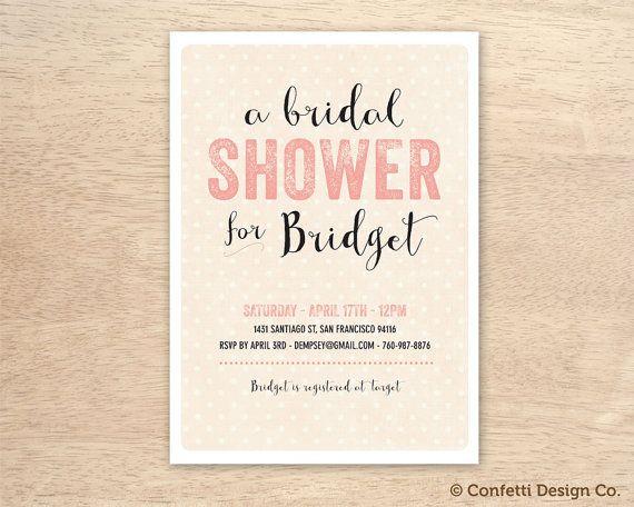 A bridal shower for pink letterpress custom bridal shower a bridal shower for pink letterpress custom bridal shower invitation card diy filmwisefo Gallery