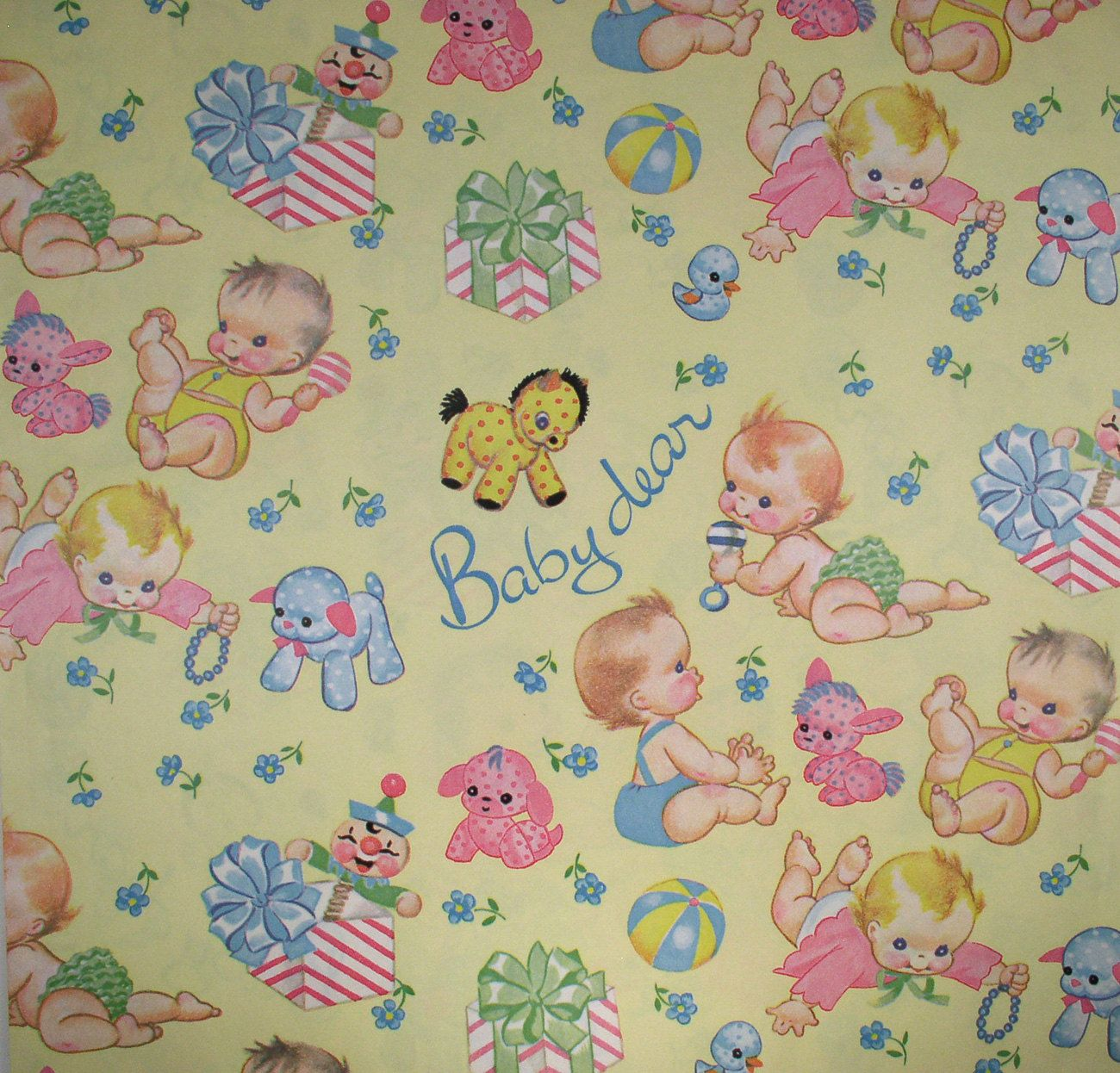 Papel Decorativo Bebe Vintage Baby Gift Baby Shower Wrapping Paper детские