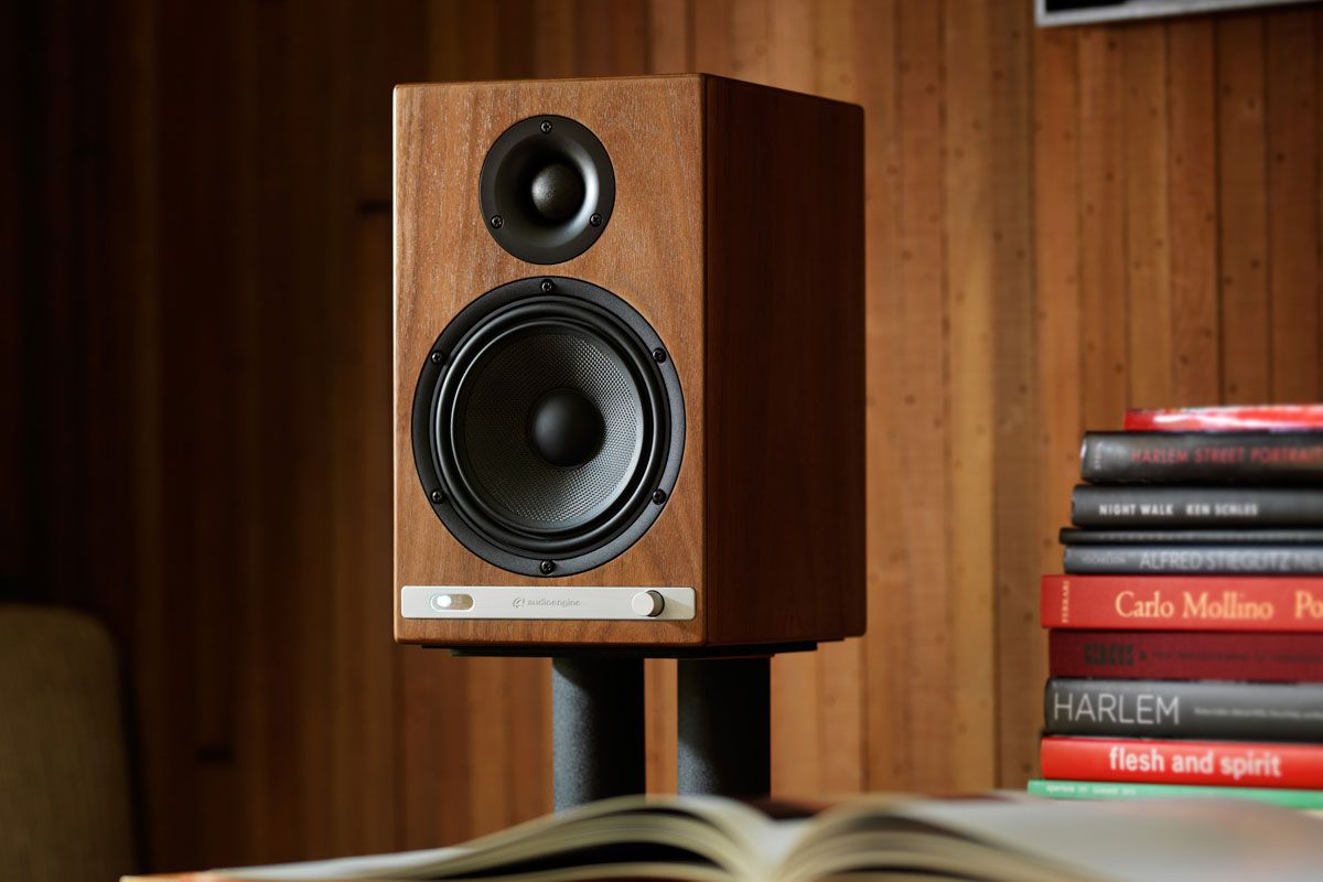Audioengine s HD6 powered speakers pack Bluetooth and a built-in amp.   speakers  soundsystems b0c2ad3d0993e
