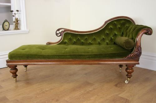 Antique Victorian Chaise Longue Ca 1850 Chaise Lounge Double Chaise Lounge Furniture