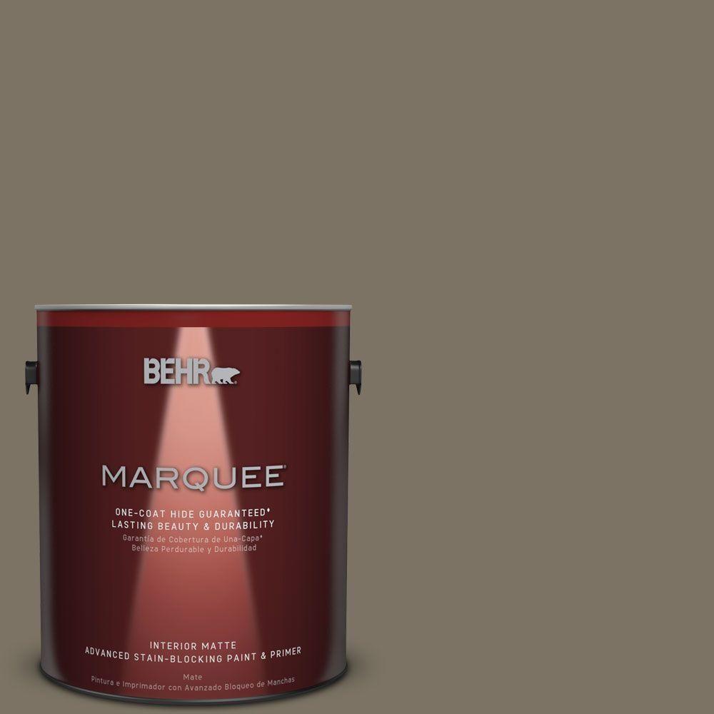 BEHR MARQUEE 1 gal. #N320-6 Arrowhead One-Coat Hide Matte Interior Paint