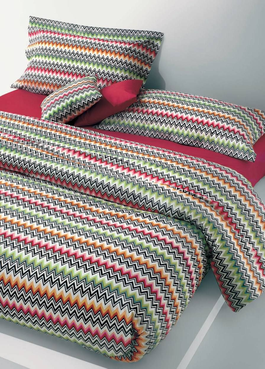 Missoniu0027s Ned Bedding Is A Colorful Multi Colored Zig Zag Fabric With The  Typical Missoni Flair For Color And Style In A Modern Design.