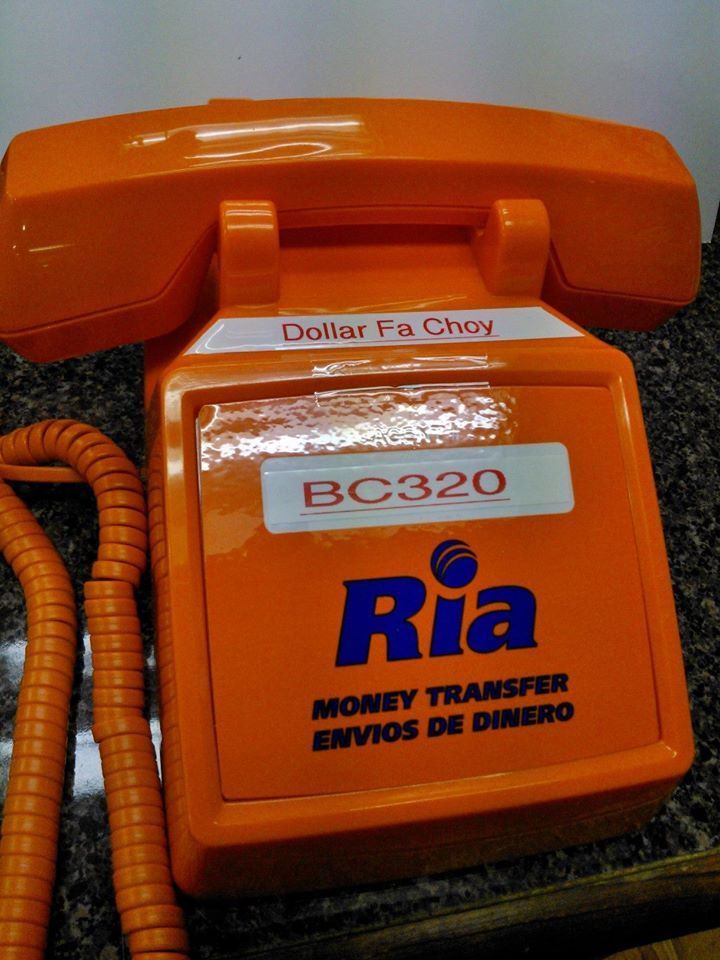 Ria Money Transfer Service Is Available At Dollar Fa Choy Good Rates And Efficient Services