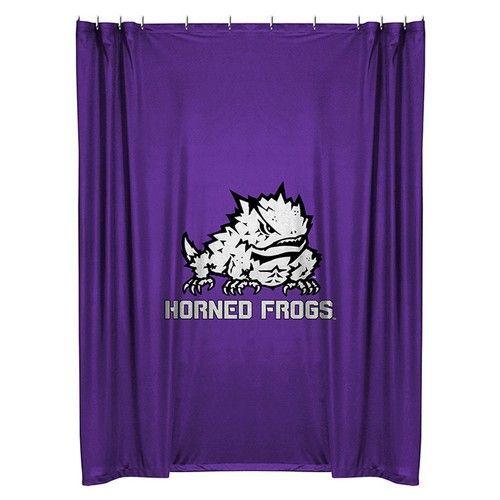 TCU Texas Christian Kids Fabric Shower Curtain