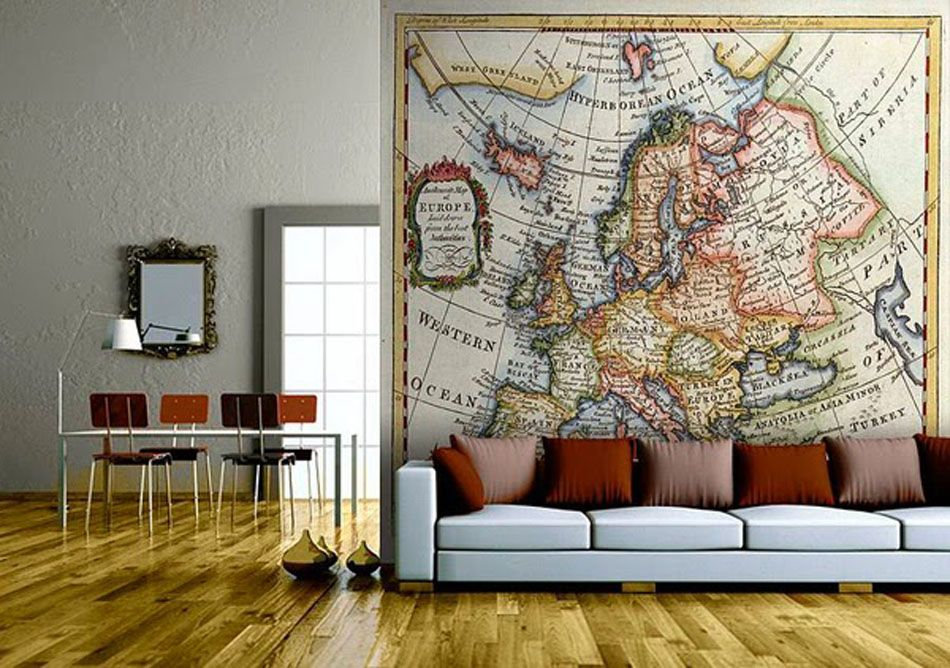 carte europe decoration