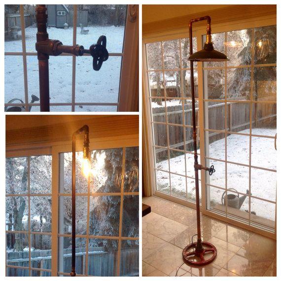 Industrial Art Floor Lamp with Vintage by AlaskaMadScientist $280
