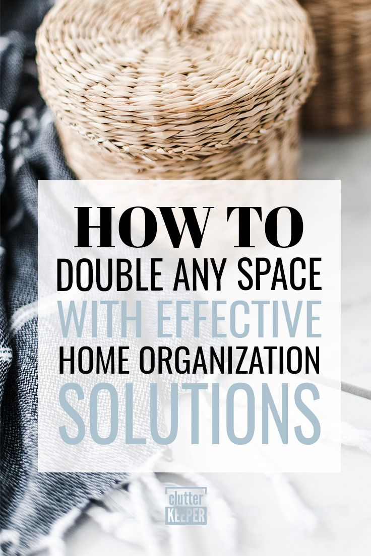 How to Double Any Space with Effective Home Organization Solutions is part of Organization bedroom - Struggling with having enough home storage and staying organized  Learn how to double any space with these simple and effective home organization solutions!