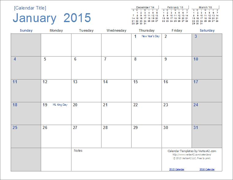 2015 Free Calendar Template 2015 Calendar Templates And Images