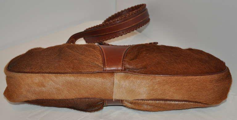 Gianfranco Ferre Gianfranco Ferre Warm Brown Leather And Pony Shouler Bag X1XDYk