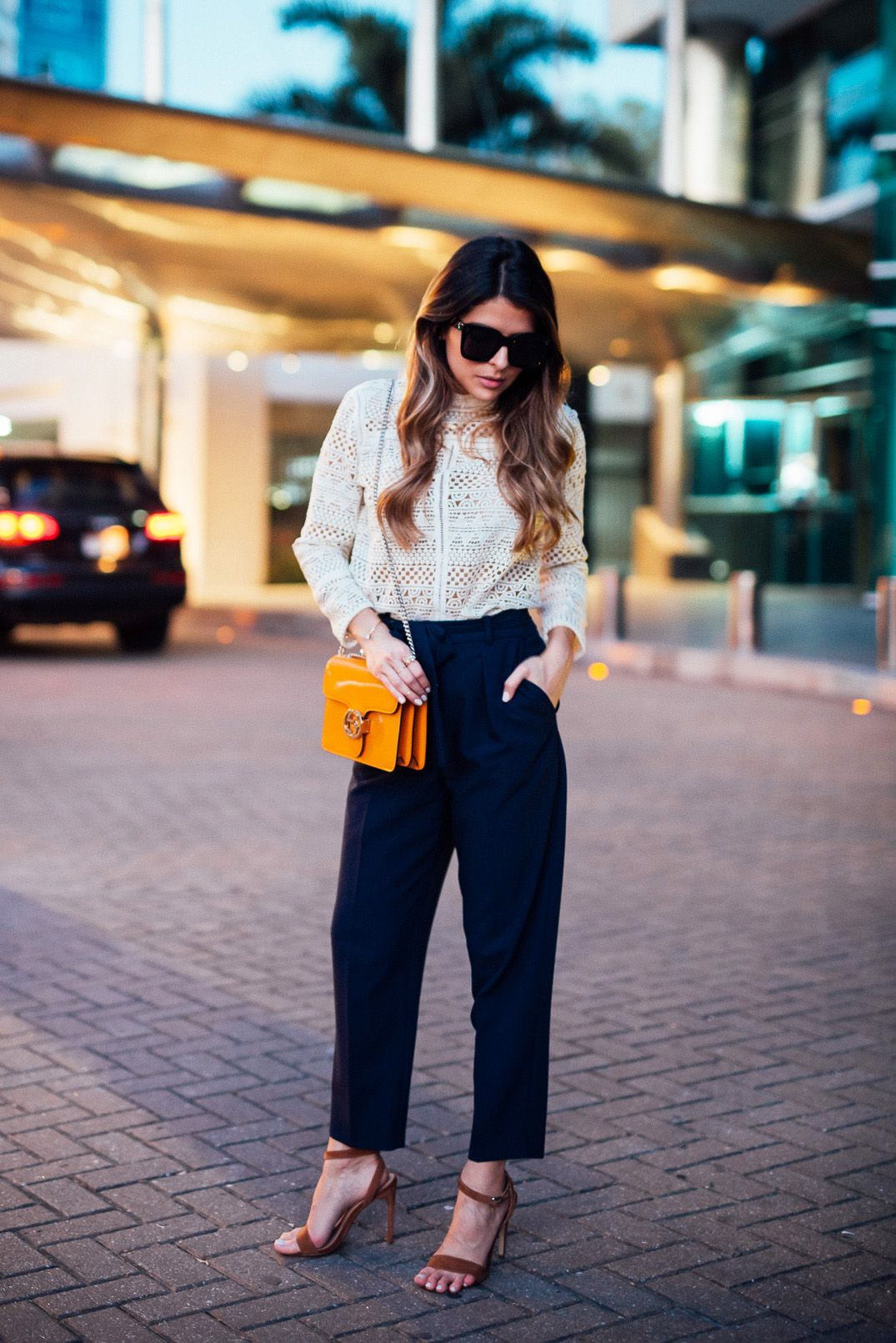 Panama at Night | Panama, Navy pants and Ankle strap sandals