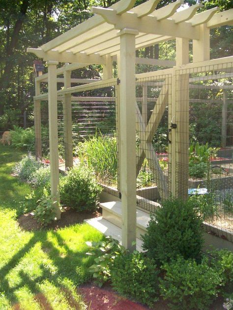 Pergolas make for an attractive entrance to the garden this garden was designed to keep