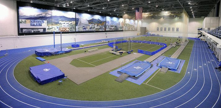 Cadet Field House Indoor Track Indoor Track Field Cadet