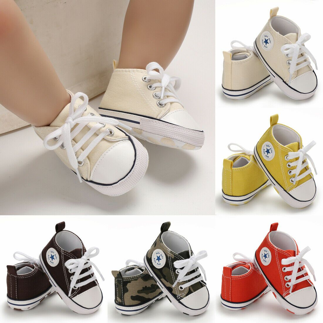 Details About Us Newborn Infant Canvas Sneaker Baby Boy Girl Soft Sole Crib Shoes 0 12 Months Kids Shoes Boys Nike Baby Girl Shoes Kids Leather Shoes