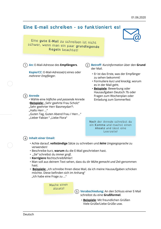 Arbeitsblatter Zum Thema In 2020 Schreiben Eine E Mail Schreiben Arbeitsblatter