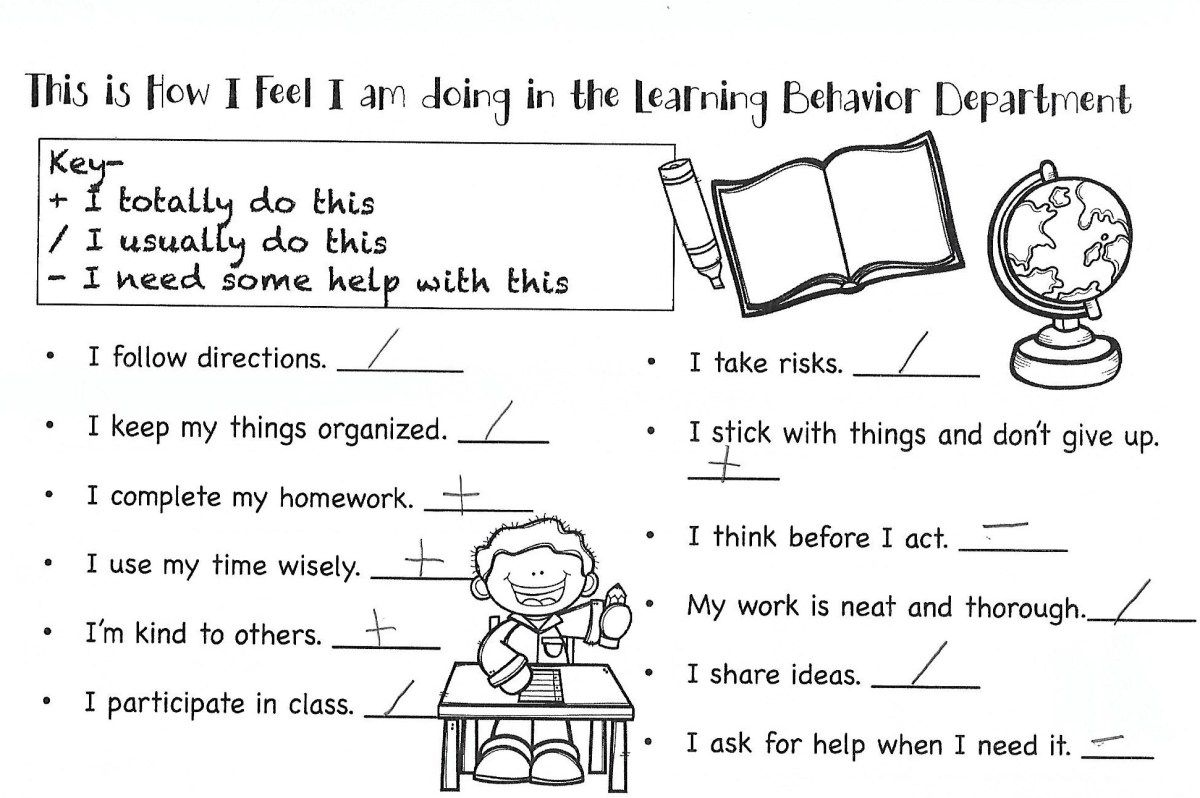 School Conferences, SelfAssessments Self assessment