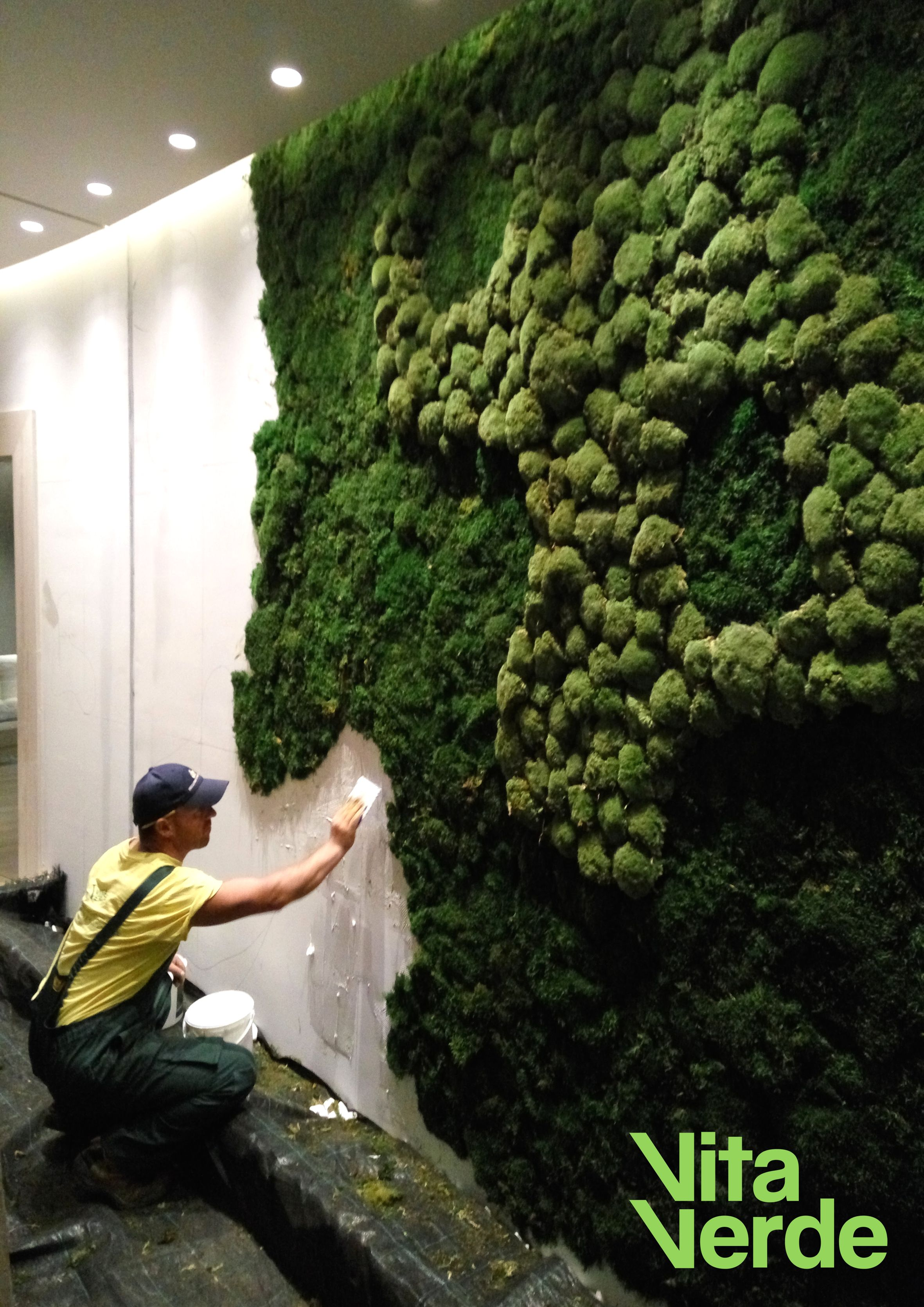 Freshen Up Your Hotel Or Office Interior With Amazing Moss Wall Custom Made Designs Tell Us Your Ideas And Let Our Team Grune Natur Moos Kunst Indoor Garten
