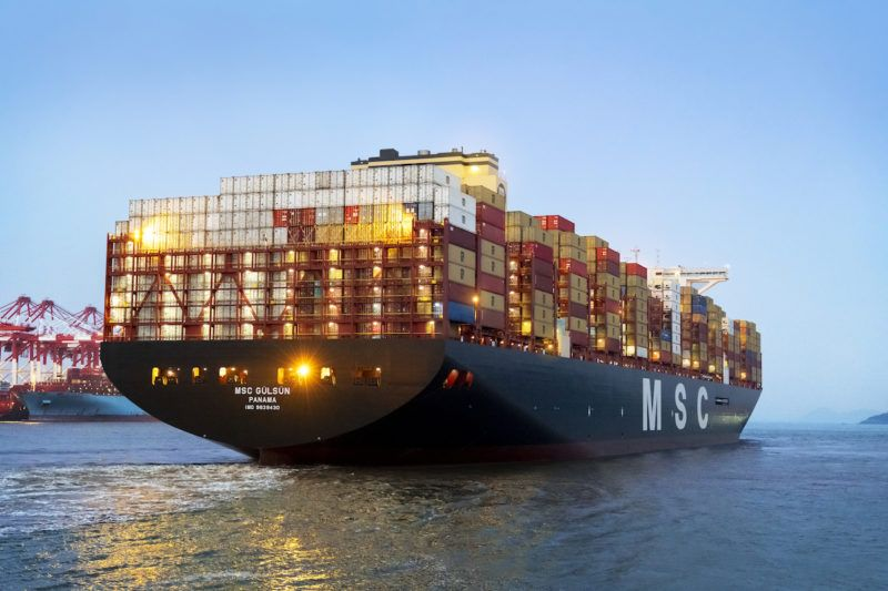 World S Largest Containership Completes Maiden Voyage From China To Europe In 2020 Mediterranean Shipping Company Msc World