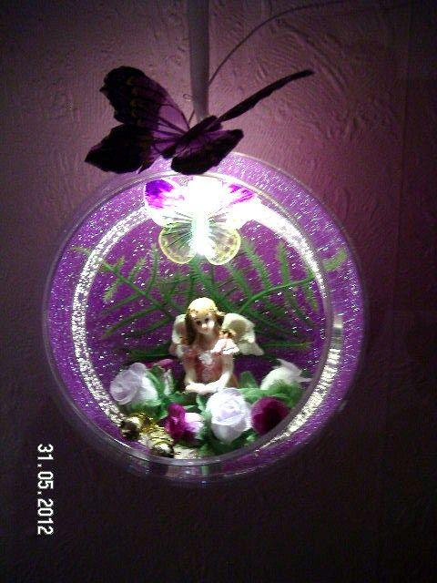 Beleuchtete Acrylkugel Basteln Blumen Basteln Und Bastelei