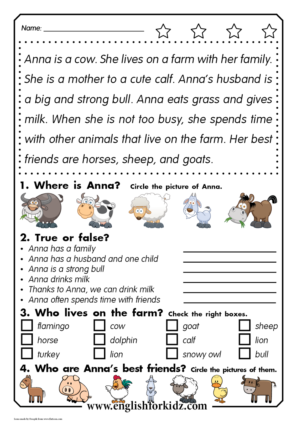 Reading Comprehension Kit Animal Passages Grades 1 3 In