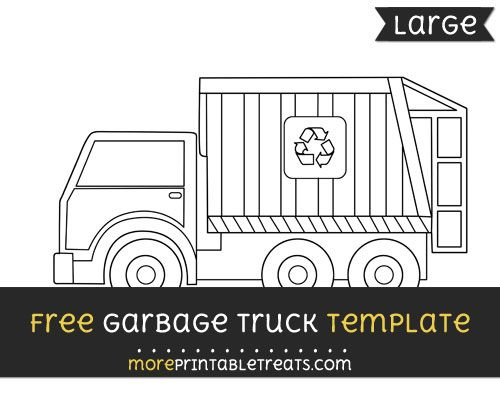 free garbage truck template large shapes and templates