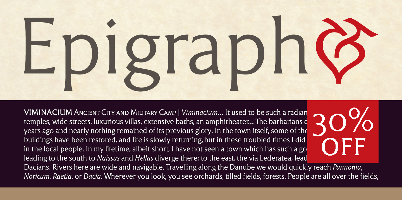 Font dňa – Epigraph (zľava 30%, od 14,00 €) - http://detepe.sk/font-dna-epigraph-zlava-30-od-1400-e/