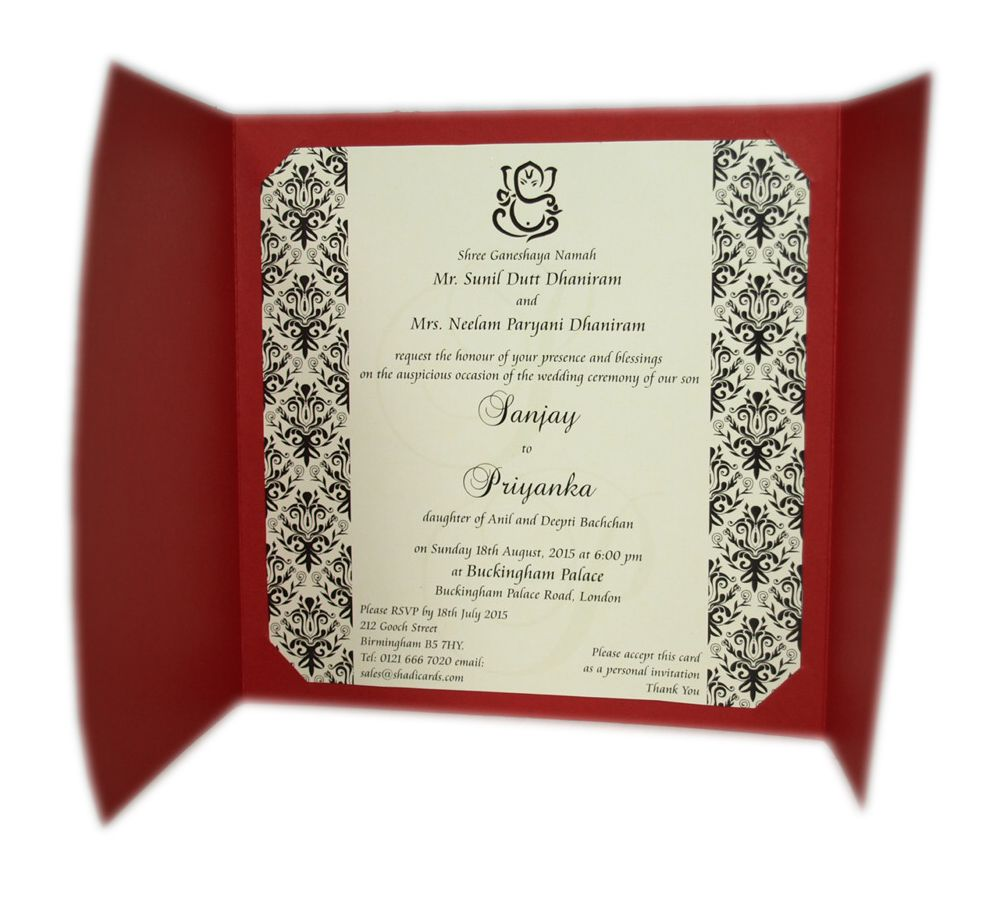 Impressive Hindu Wedding Invitations Abc 414h Red Hindu Wedding ...
