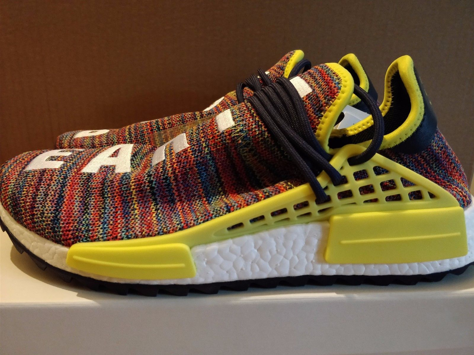 0b6d5971636d0 ADIDAS X PHARRELL WILLIAMS NMD HUMAN RACE TRAIL MULTI NOBLE INK UK 9.5   US  10