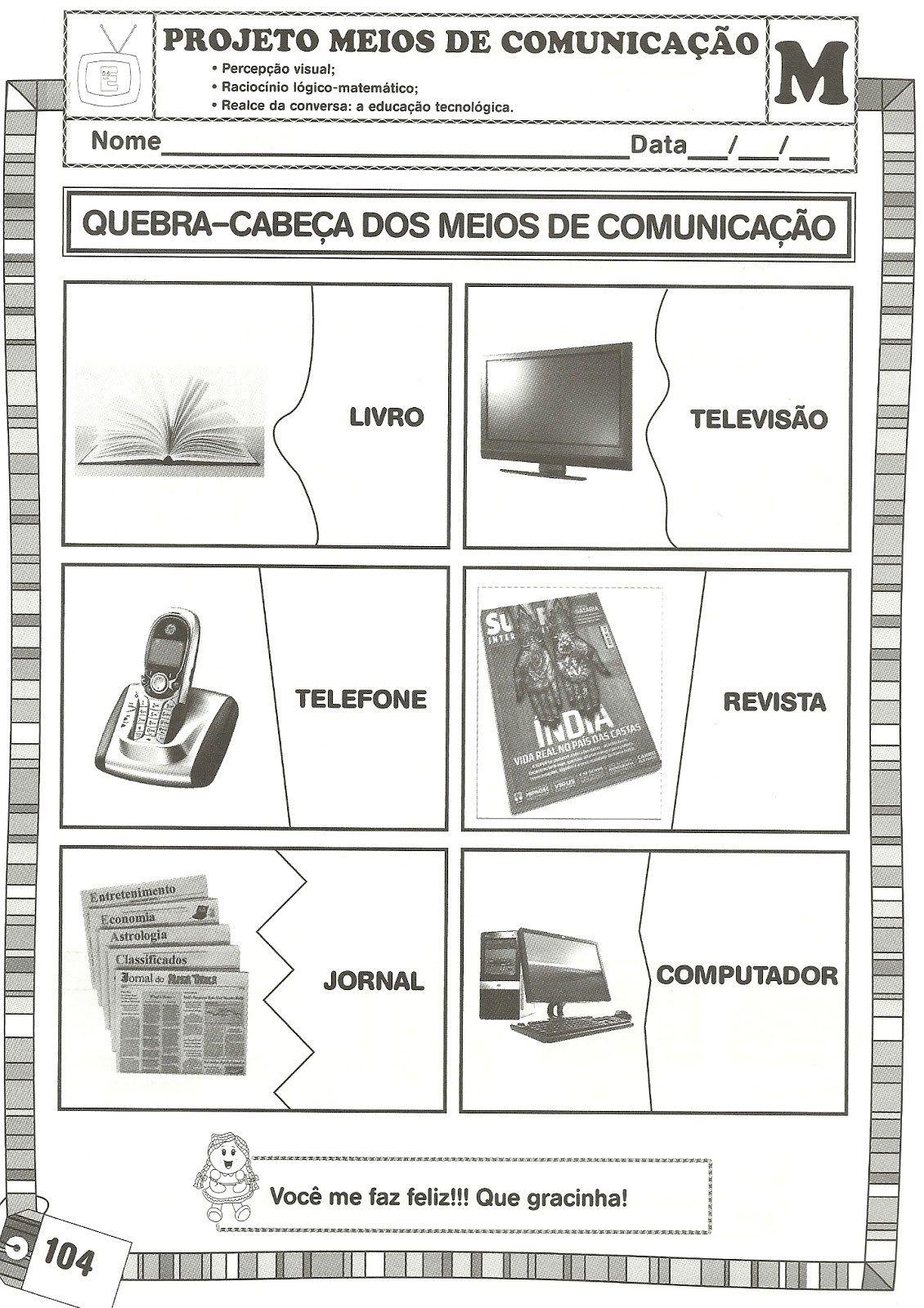 Projeto Meios De Comunicacao Com 19 Atividades Para Imprimir Em