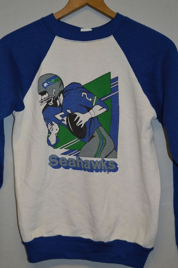 VINTAGE SEATTLE SEAHAWKS Kids Sweatshirt Shirt  64a7ba78b