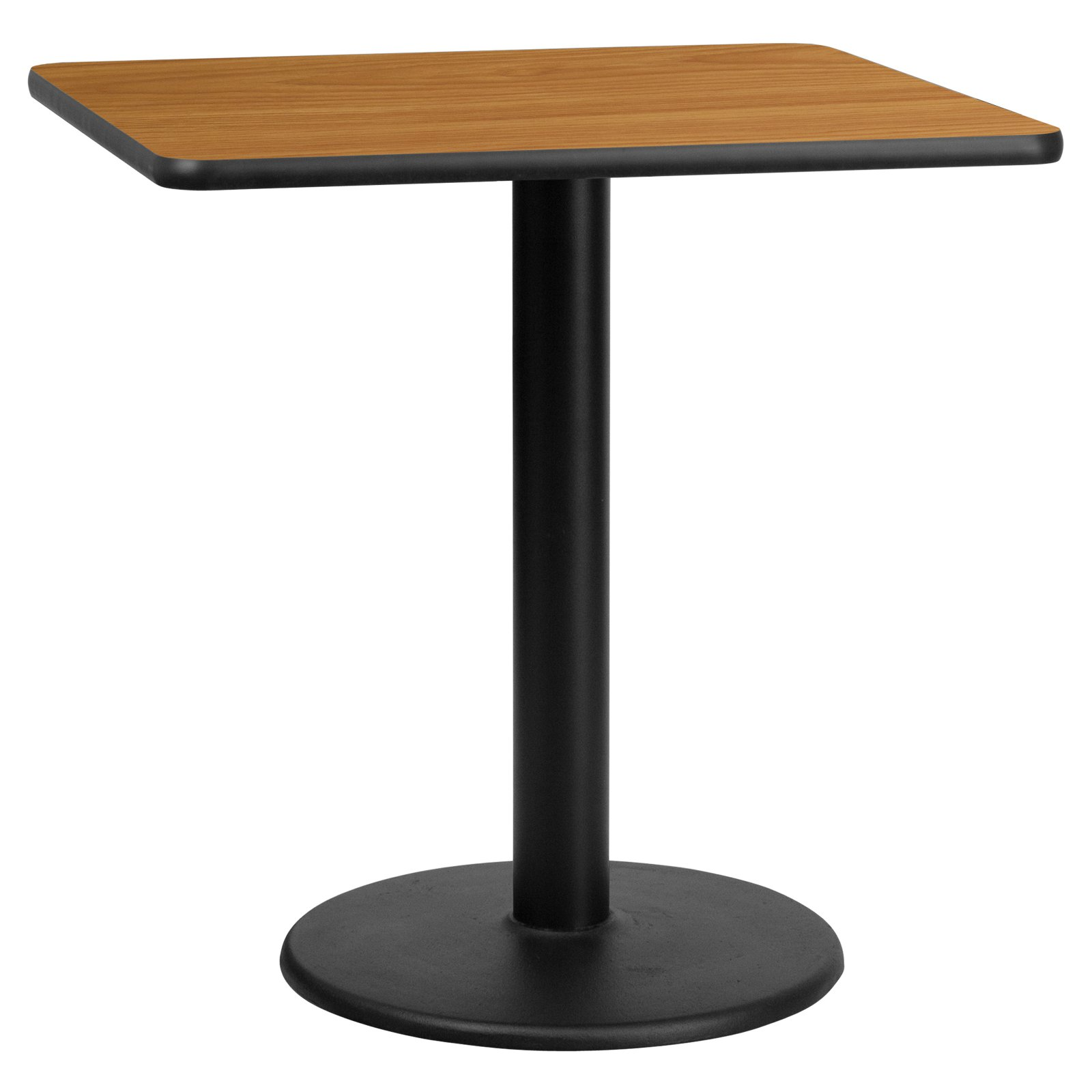 Flash Furniture 30 In Square Laminate Dining Table With Round