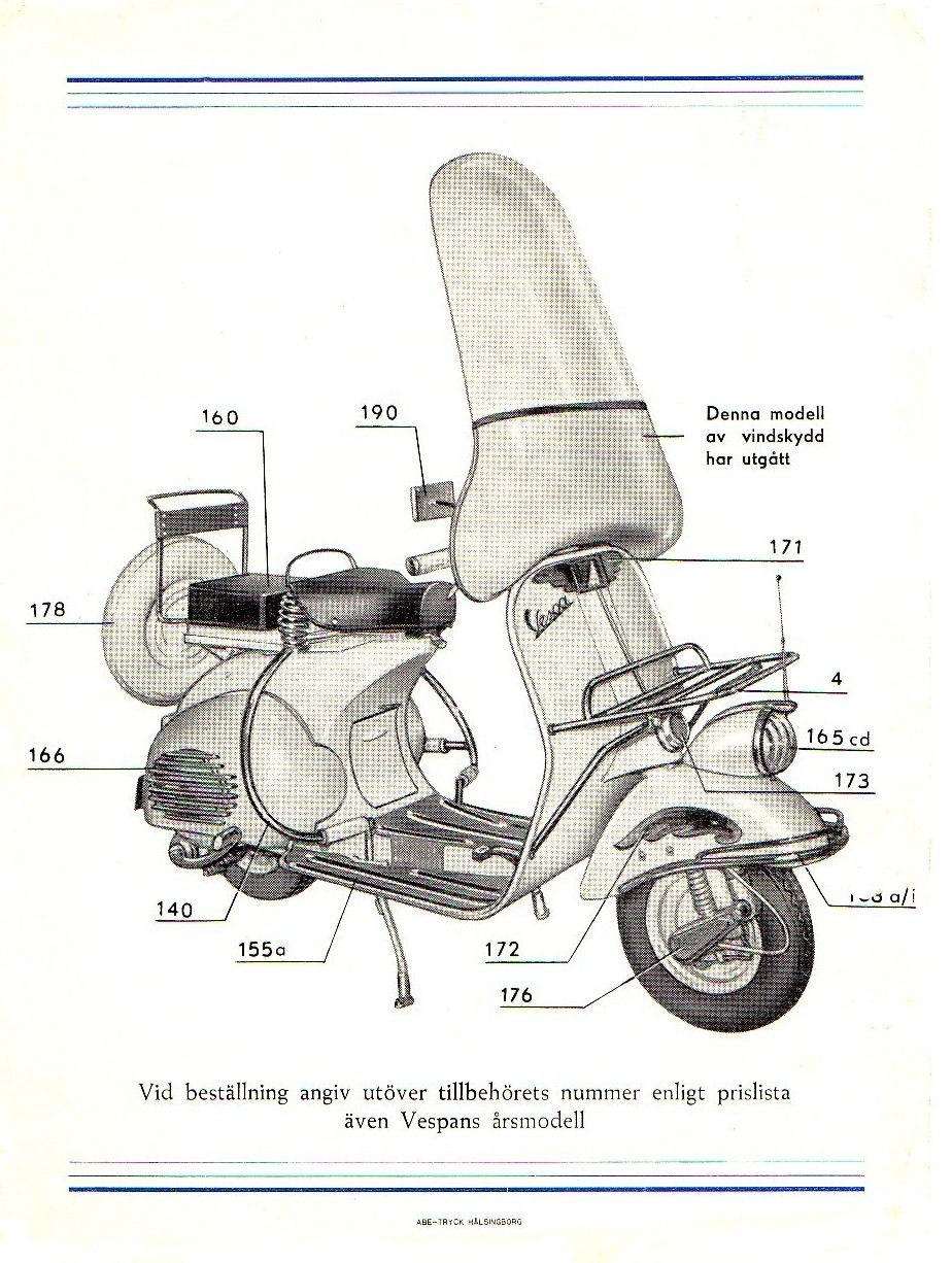 Vintage Vespa Motor Diagrams Great Installation Of Wiring Diagram Douglas Old Accessory Catalouge For The Swedish Market Www Ehrmotor Rh Pinterest Com Bike
